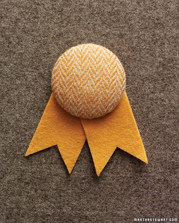 Tweed-Covered Boutonniere
