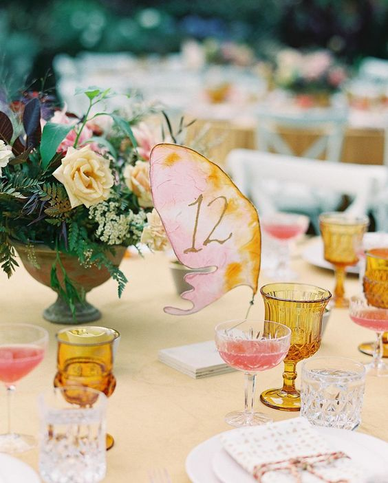 butterfly table number