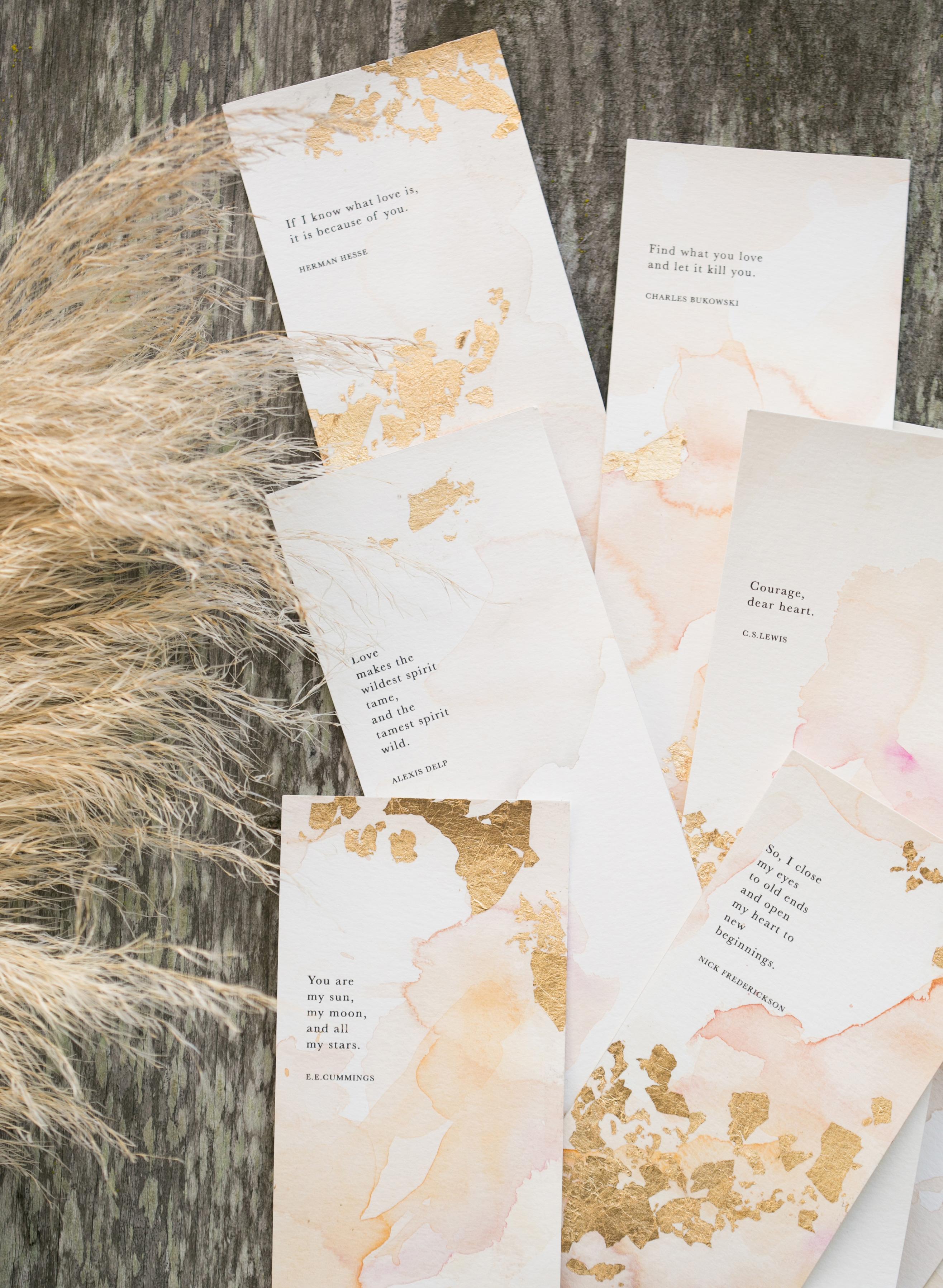 gold leaf invitations