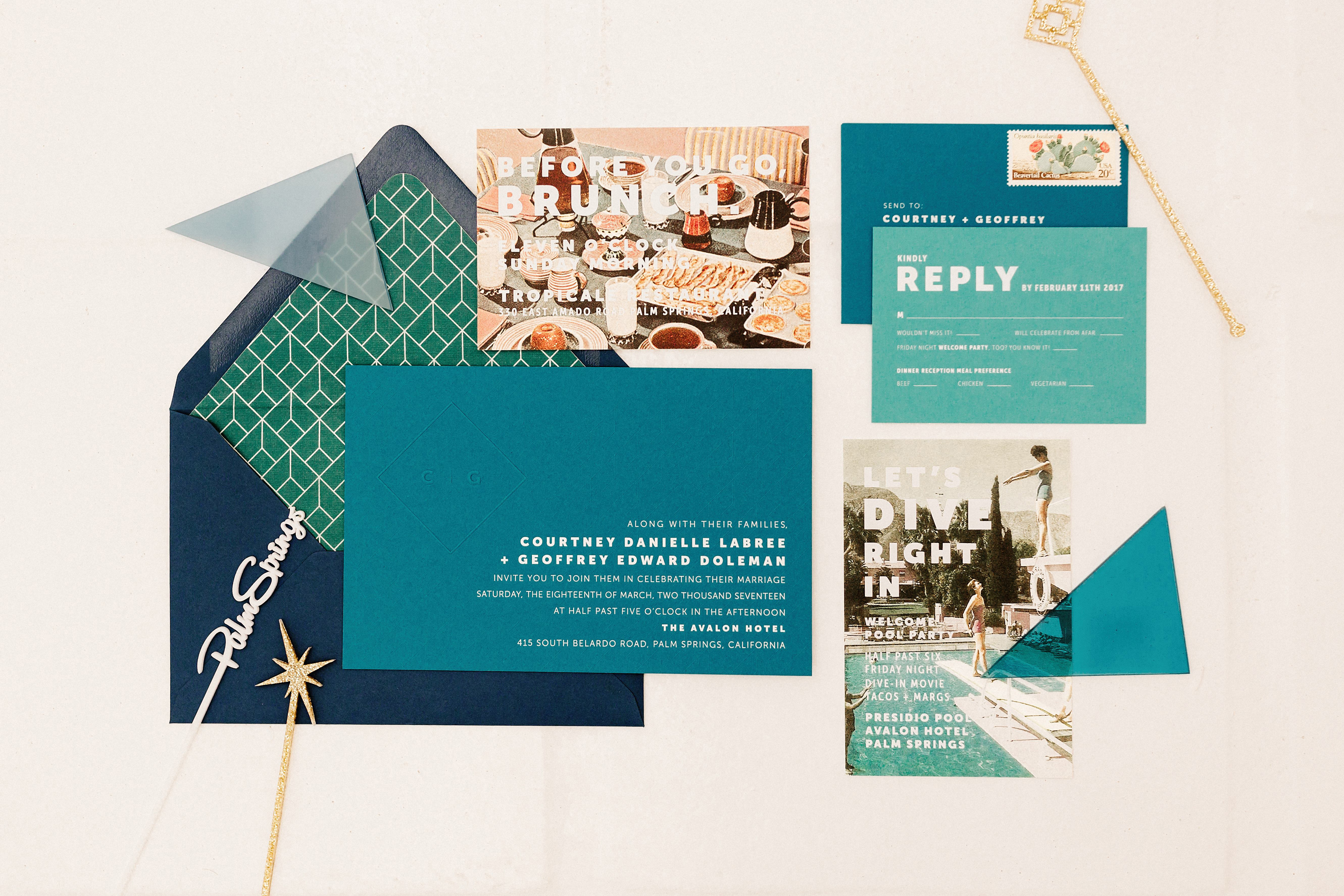 modern stationery suite