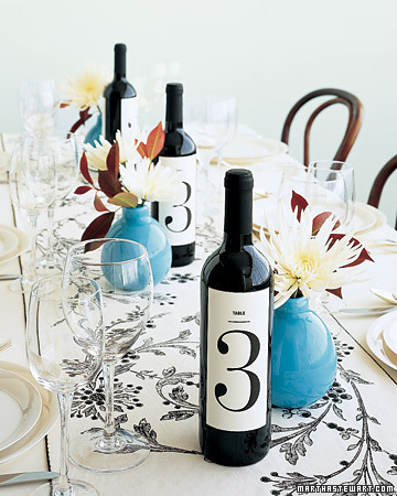 Wine Bottle Table Number