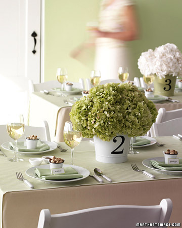 Table Number Centerpiece