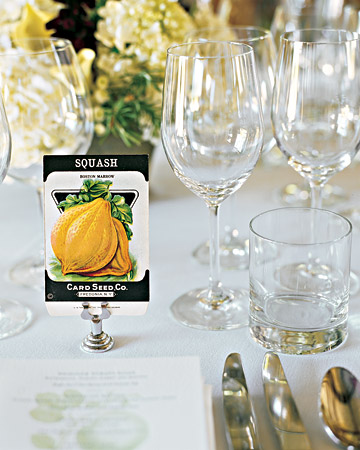 Seed Packet Table Card