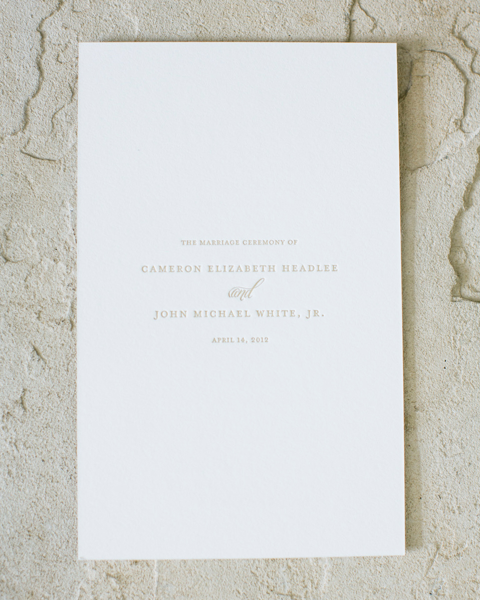 Classic Wedding Ceremony Programs Martha Stewart Weddings