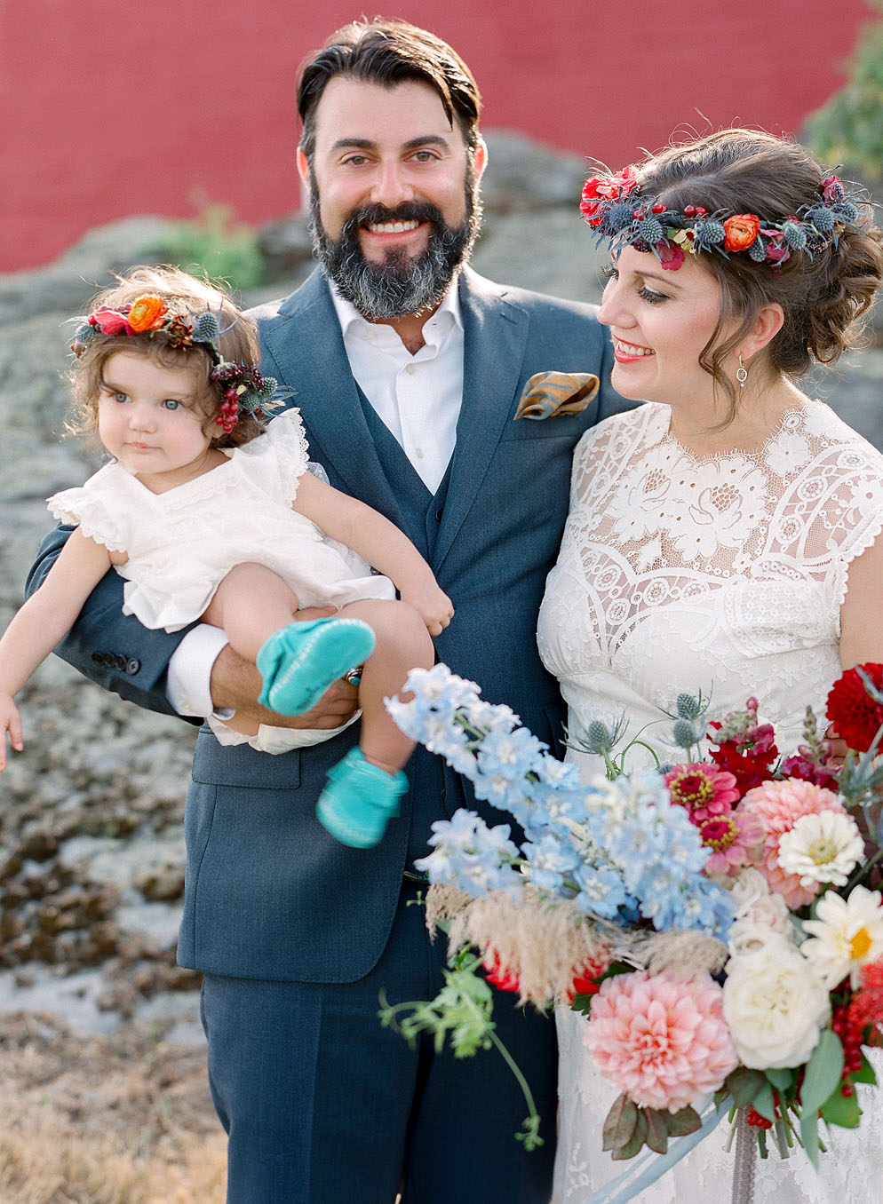 emily patton wedding montana bride groom daughter