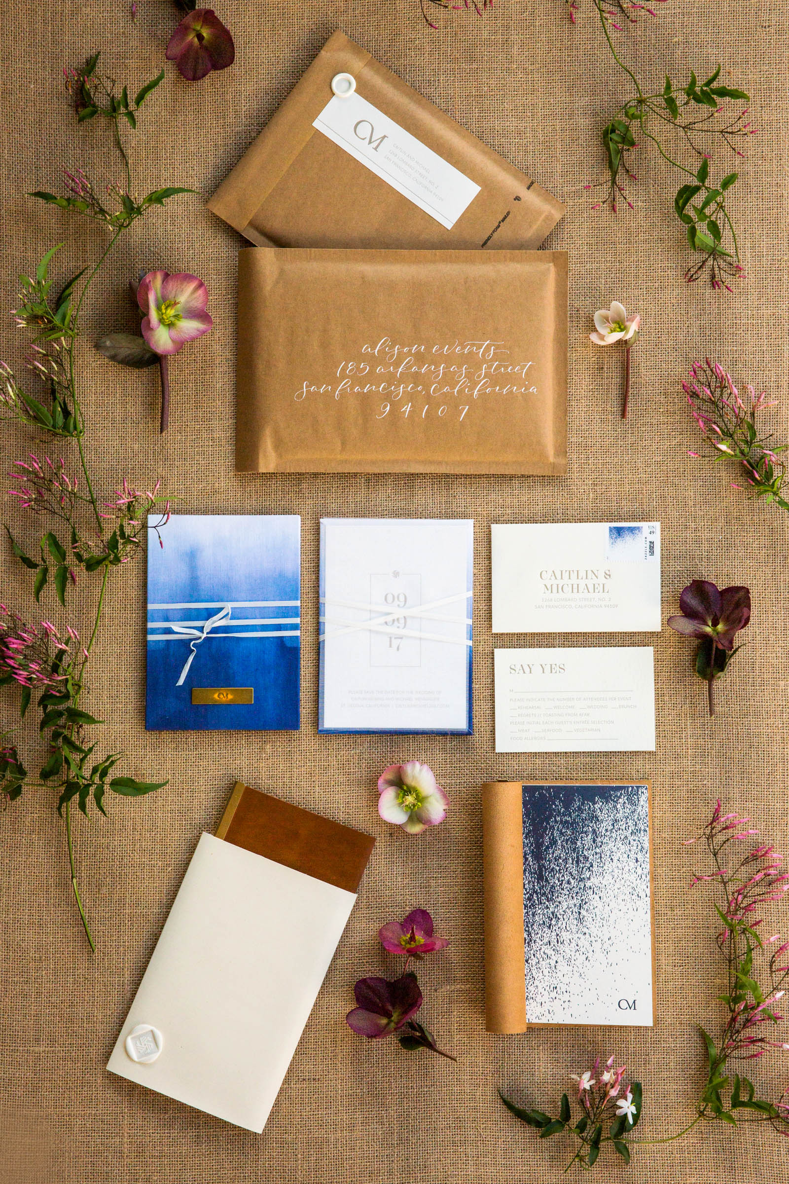 caitlin michael wedding invitations