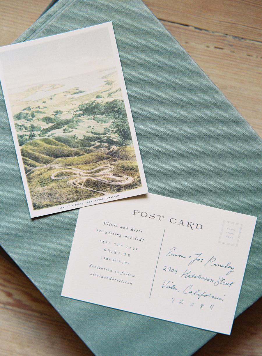 vintage postcard design save the date