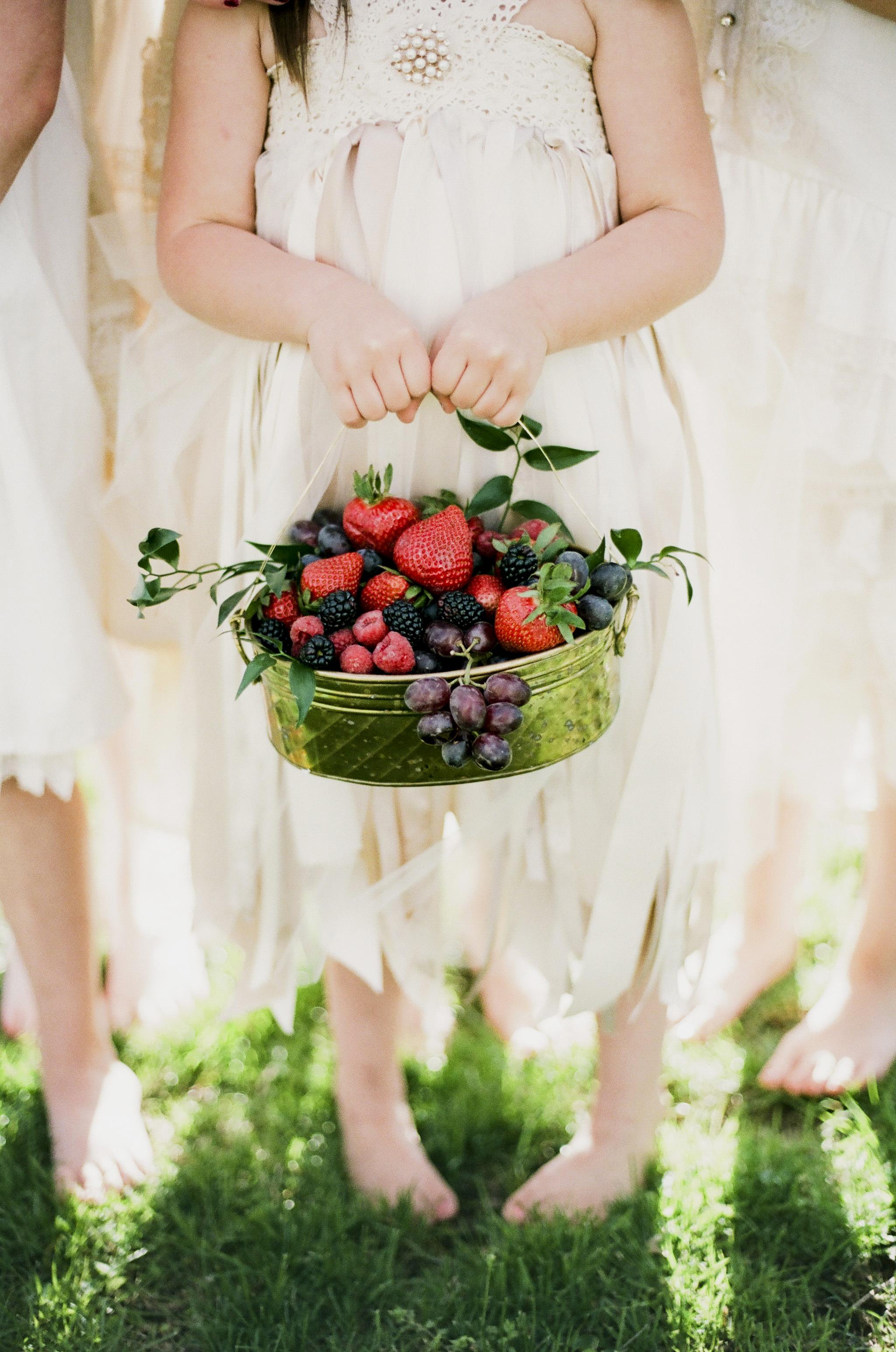 berry wedding ideas jenna henderson flower girl basket