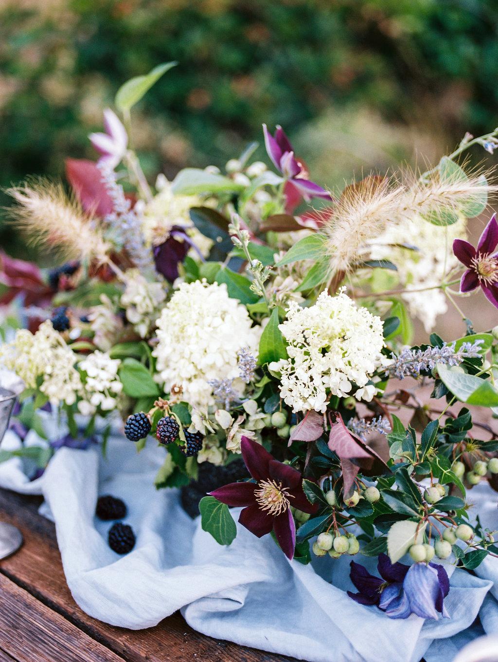 berry wedding ideas megan robinson blackberry centerpiece