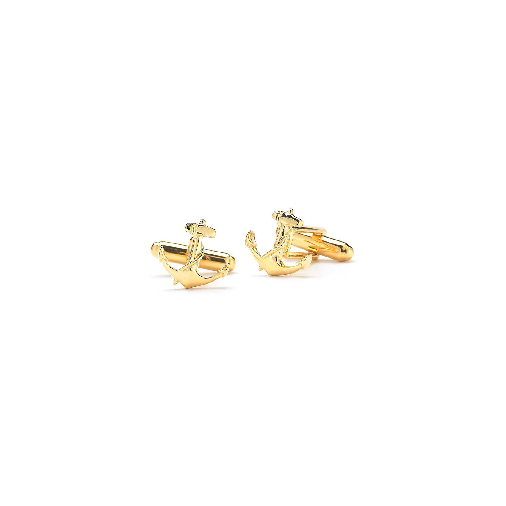 gold anchor cuff links