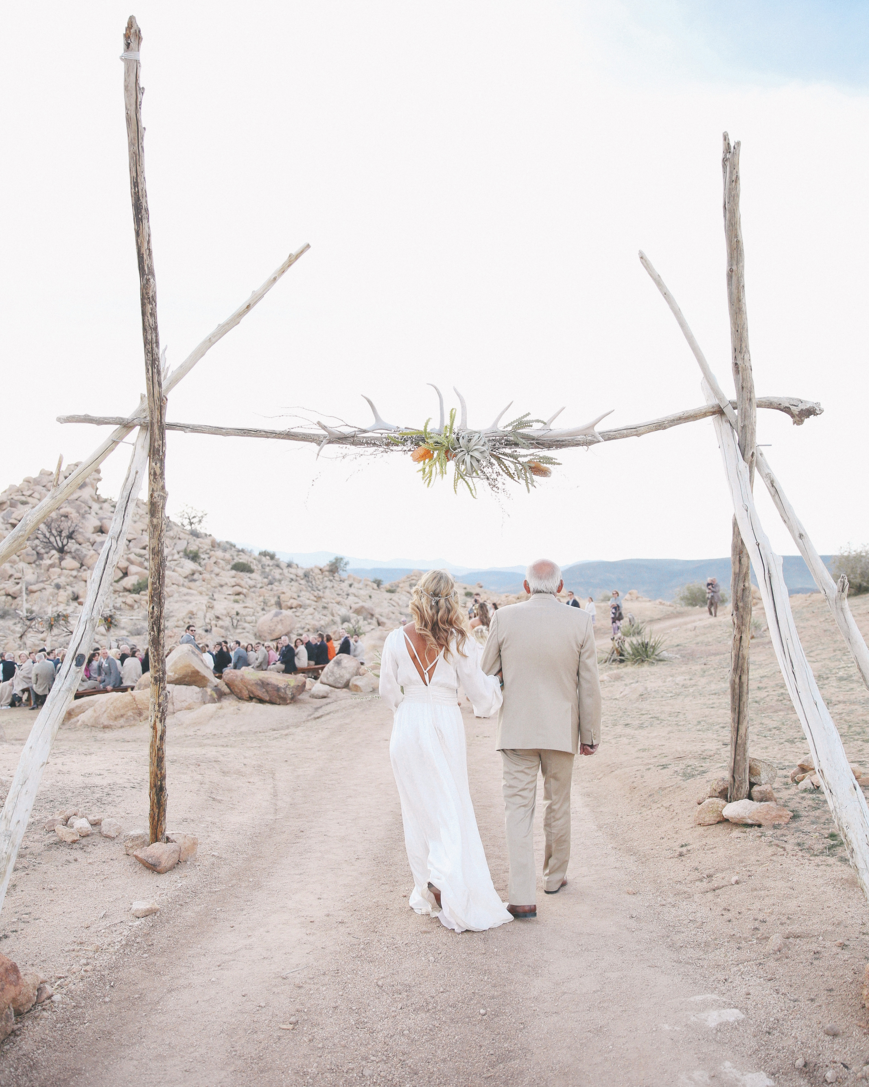 Bride and Groom at Ceremony Altar