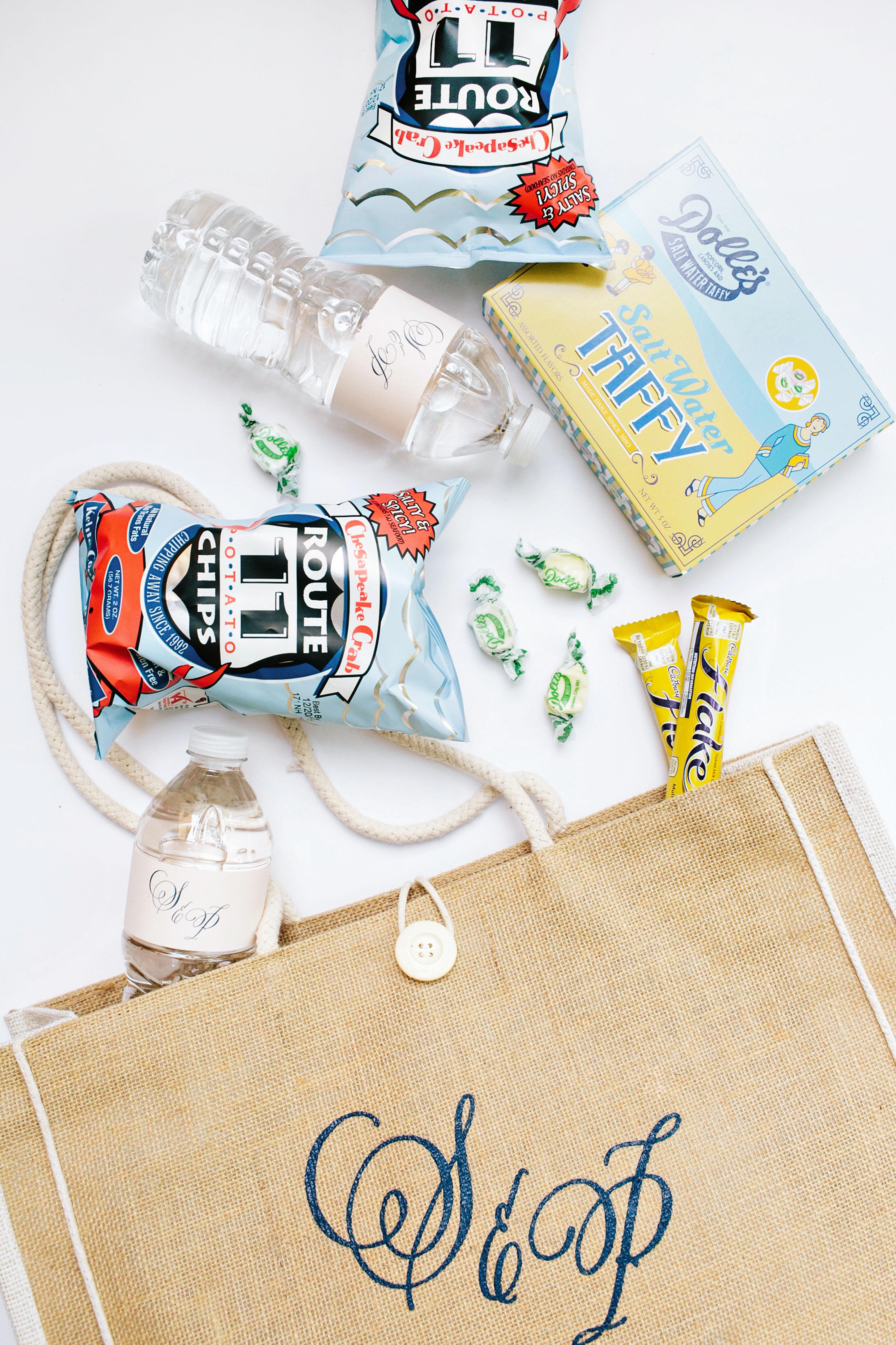 stephanie philip wedding welcome bag