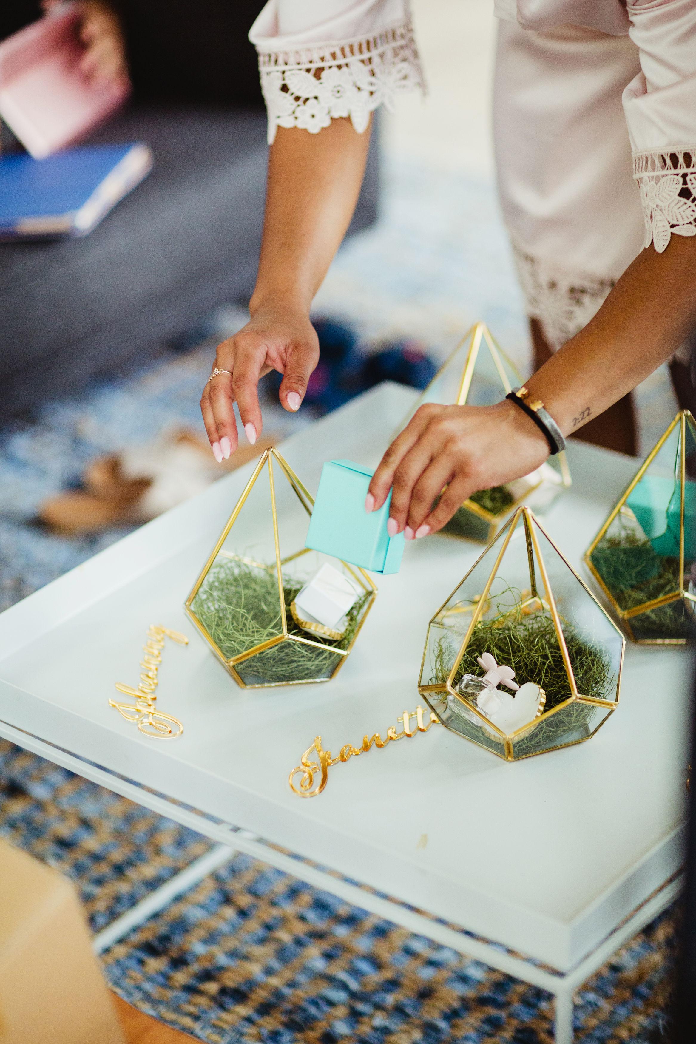 bridesmaids terrarium gifts