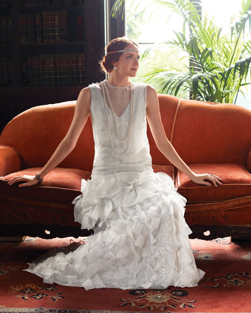 Flapper-Inspired Wedding Dress