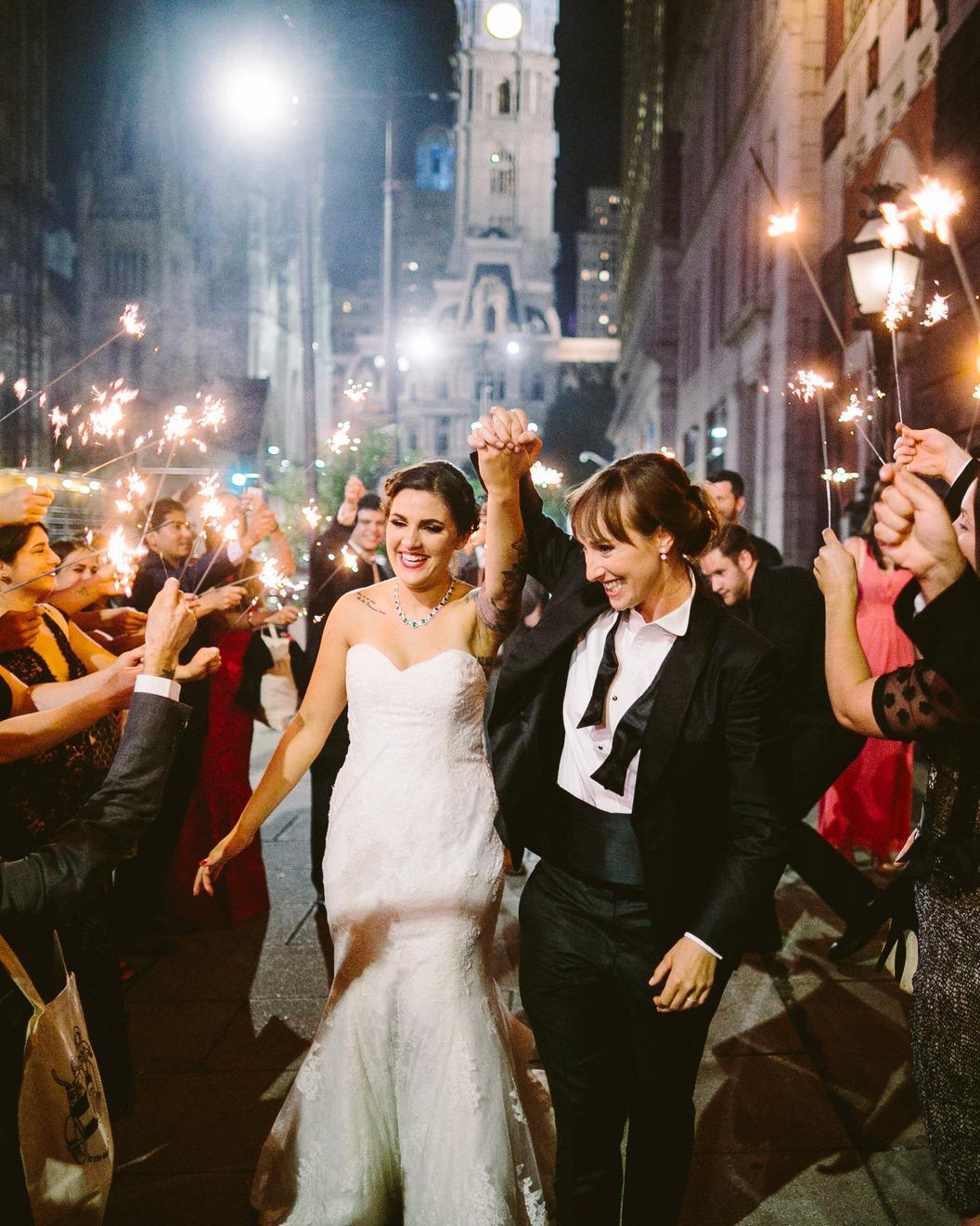 Deb & Meryl's wedding sparklers