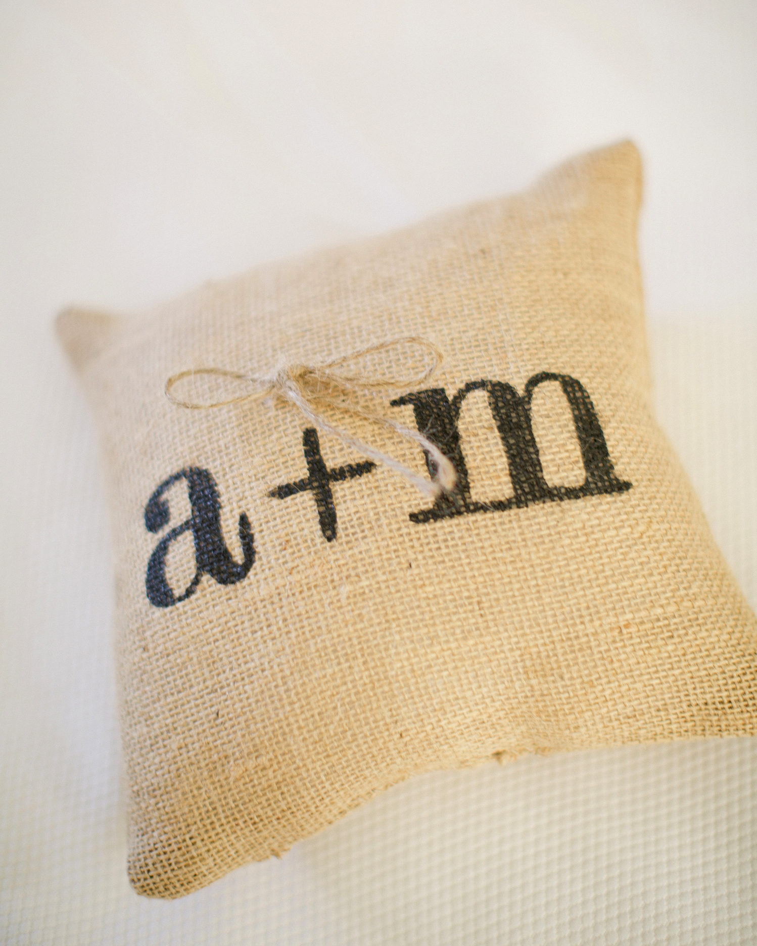Monogrammed Ring Pillow