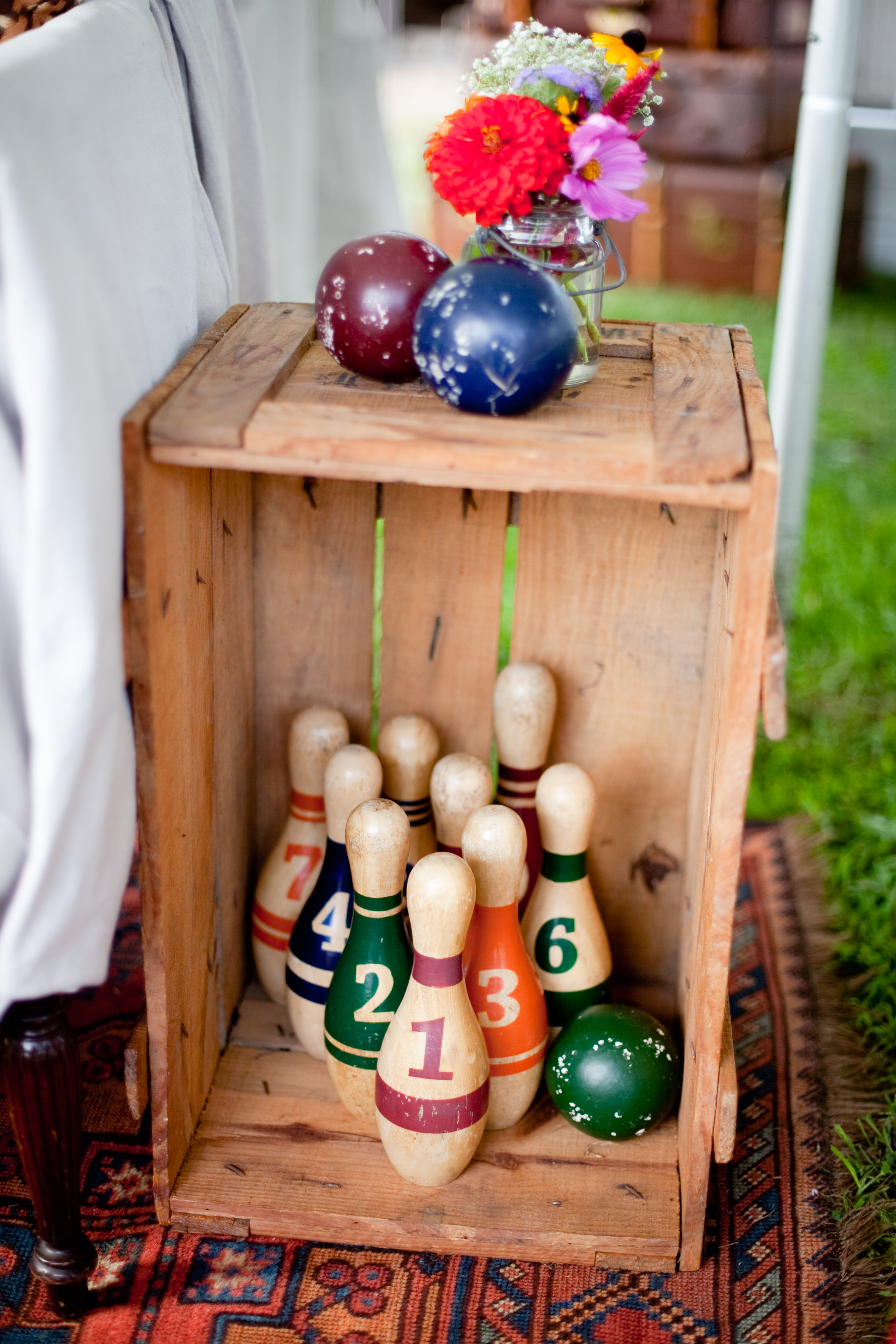 vintage bowling decoration