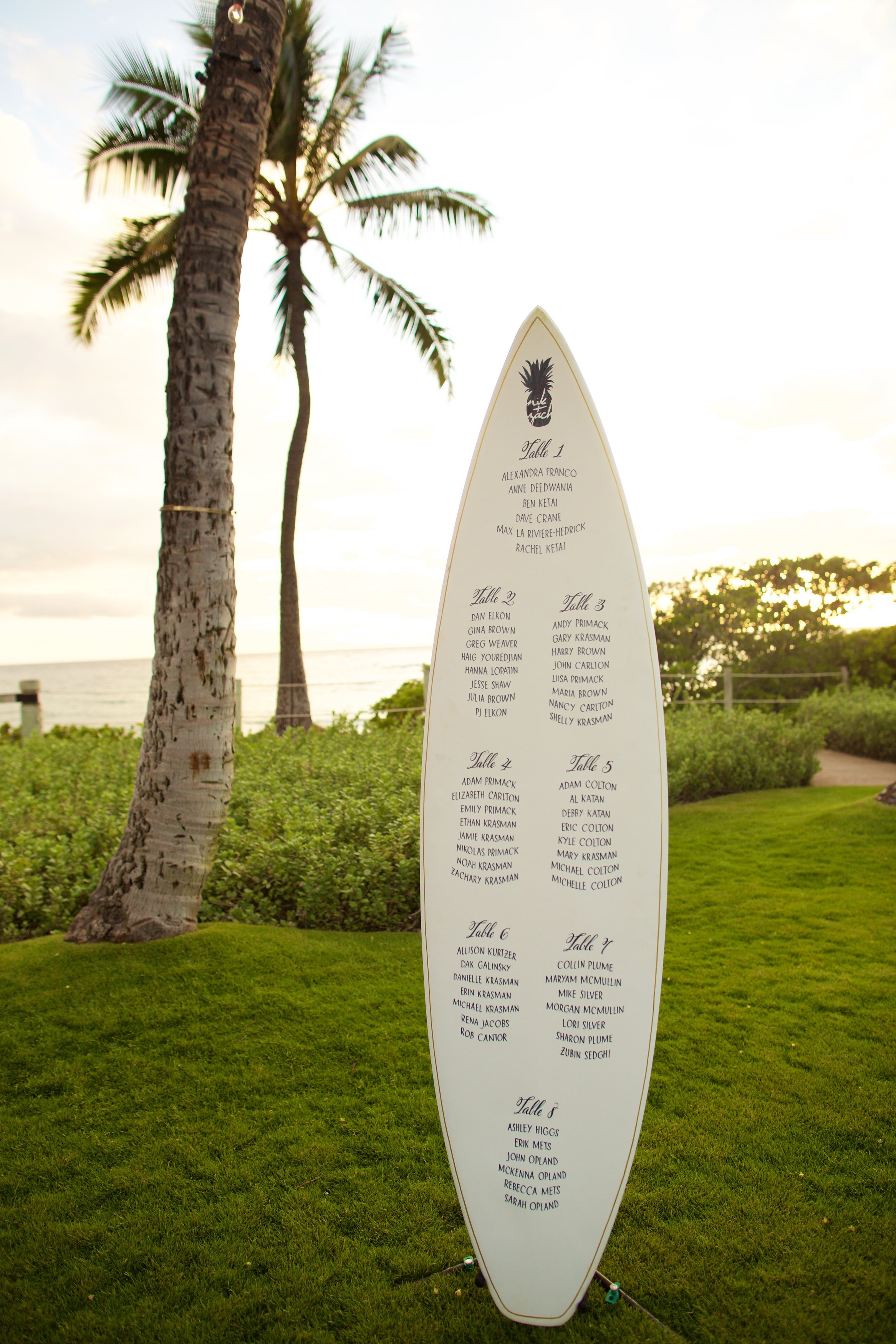 surfboard seating chart