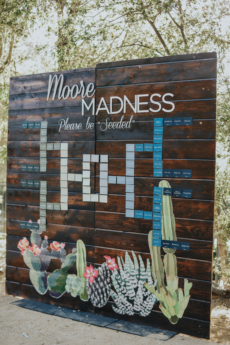 march madness inspired seating chart