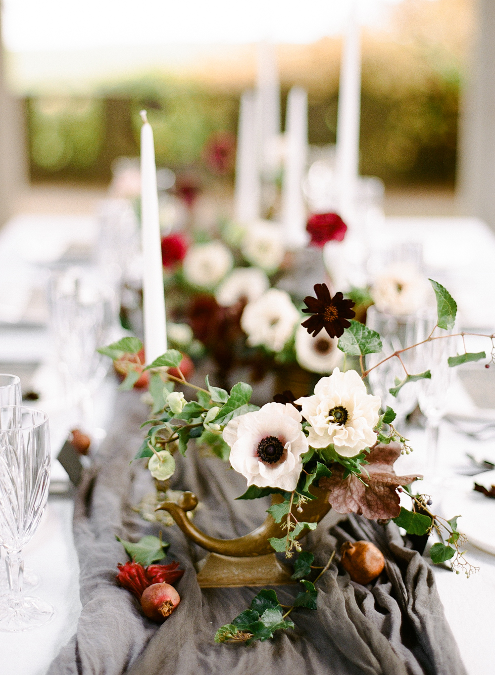centerpiece with horn