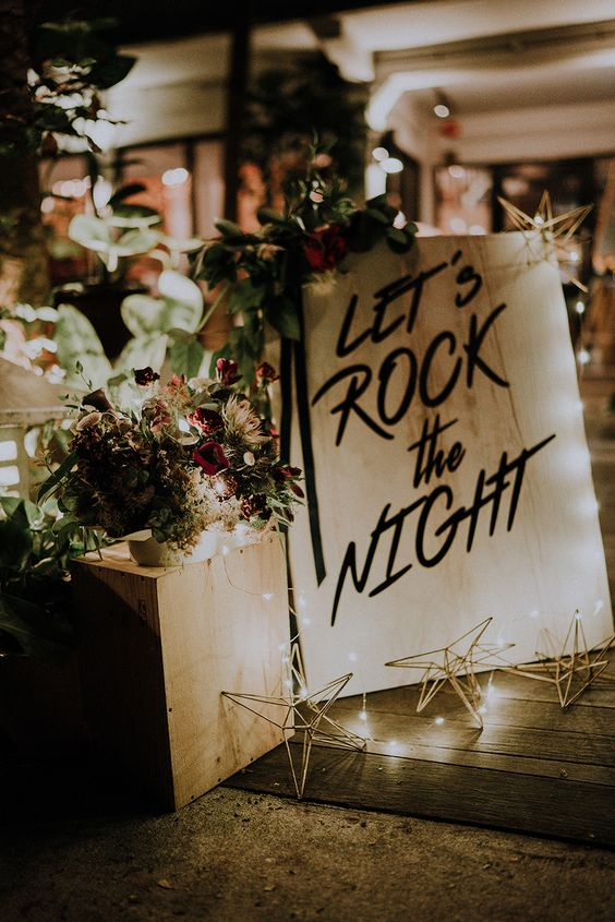 Rock The Night Welcome Sign