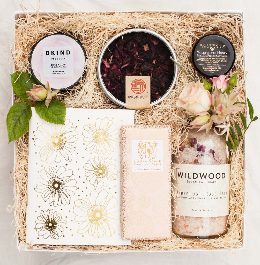 be my bridesmaid box with chocolates and bath kit