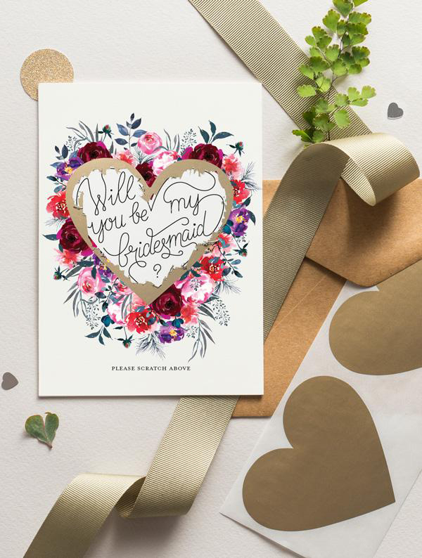 be my bridesmaid scratch off card