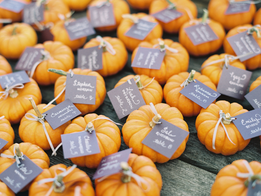pumpkin wedding favors