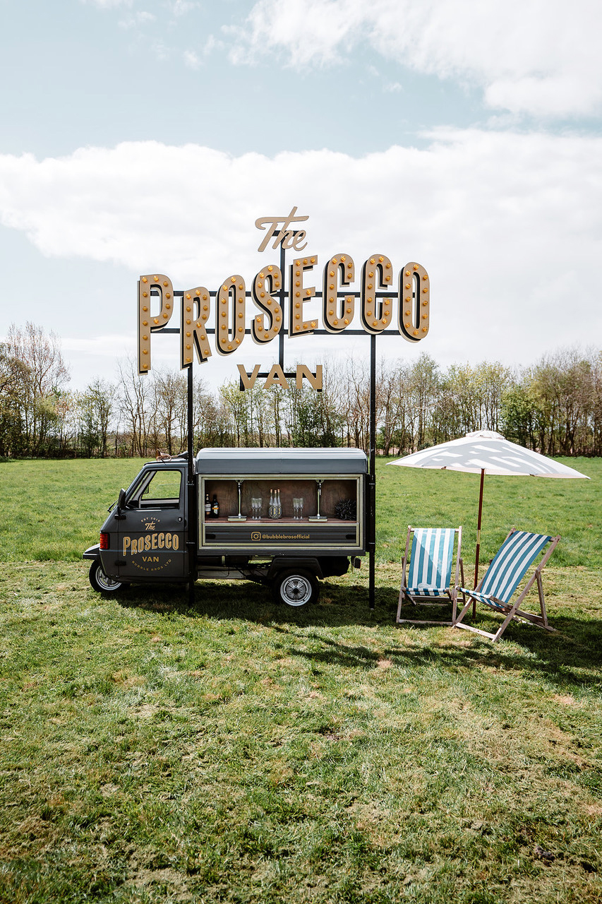 bubble brothers prosecco van mobile drinks