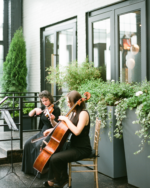 Modern Wedding Ceremony Songs: Ashley And Jonathon's Art Deco-Meets-Modern Brooklyn