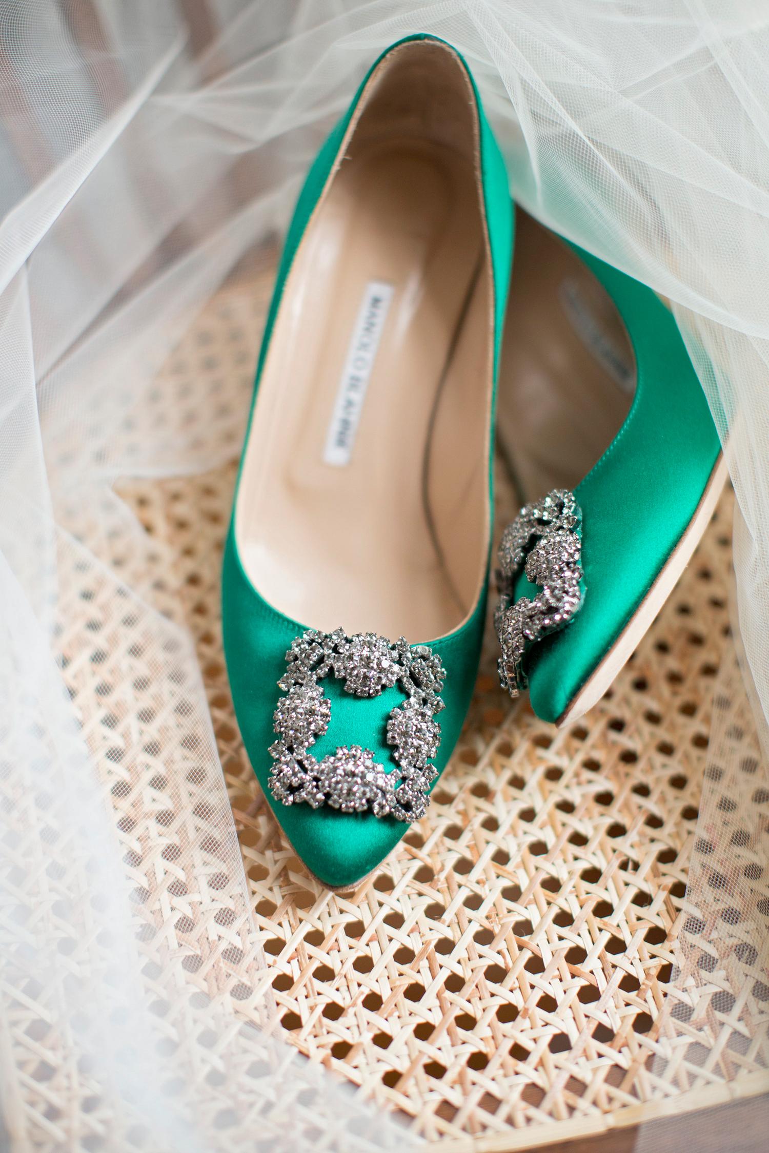 madelyn jon wedding brides green shoes