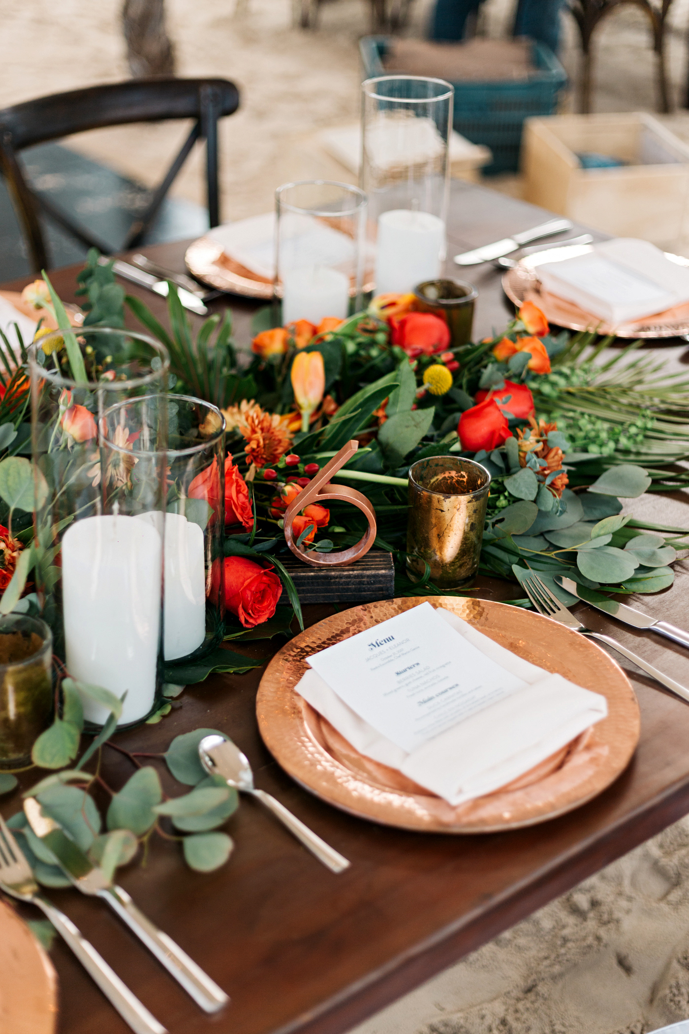 eleanor jacques wedding table place setting
