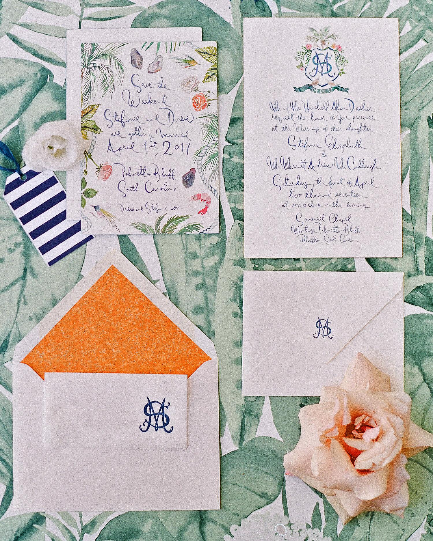 stefanie drew wedding invite