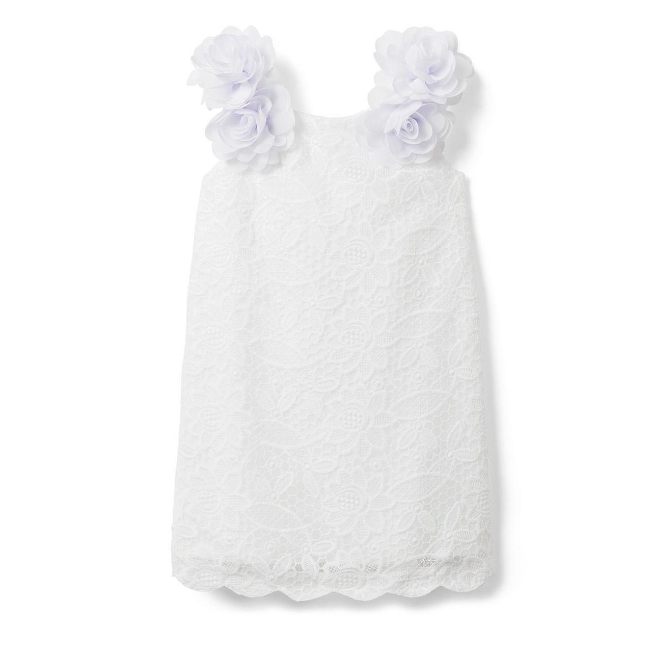 summer flower girl outfit white dress
