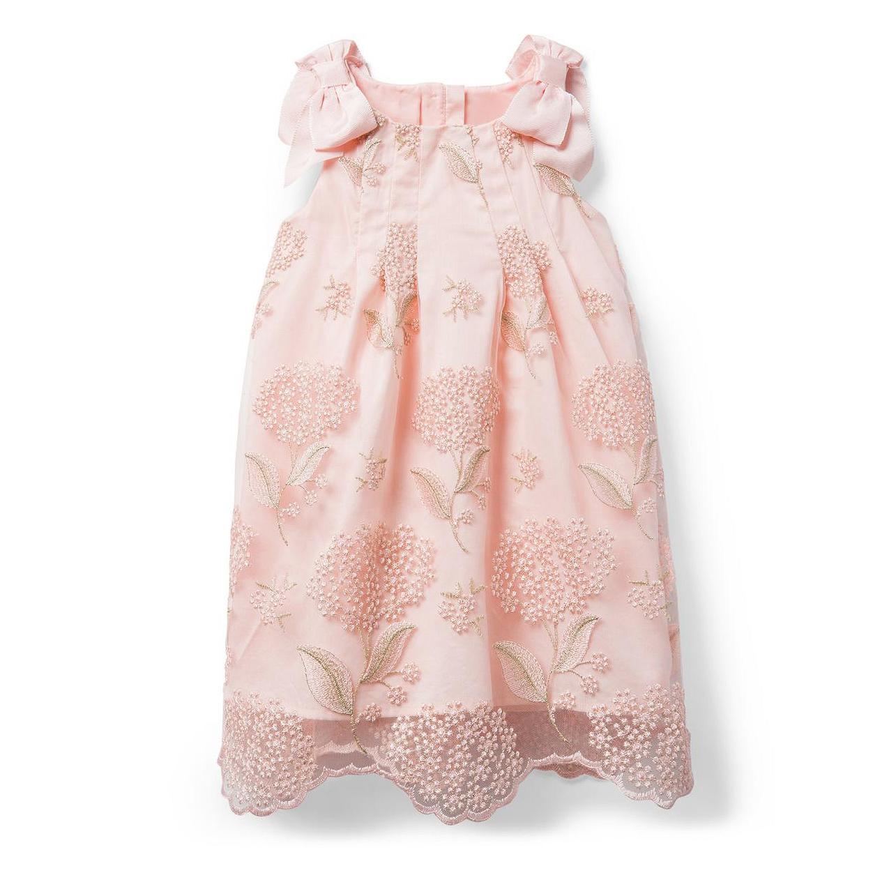 summer flower girl outfit pink embellished dress