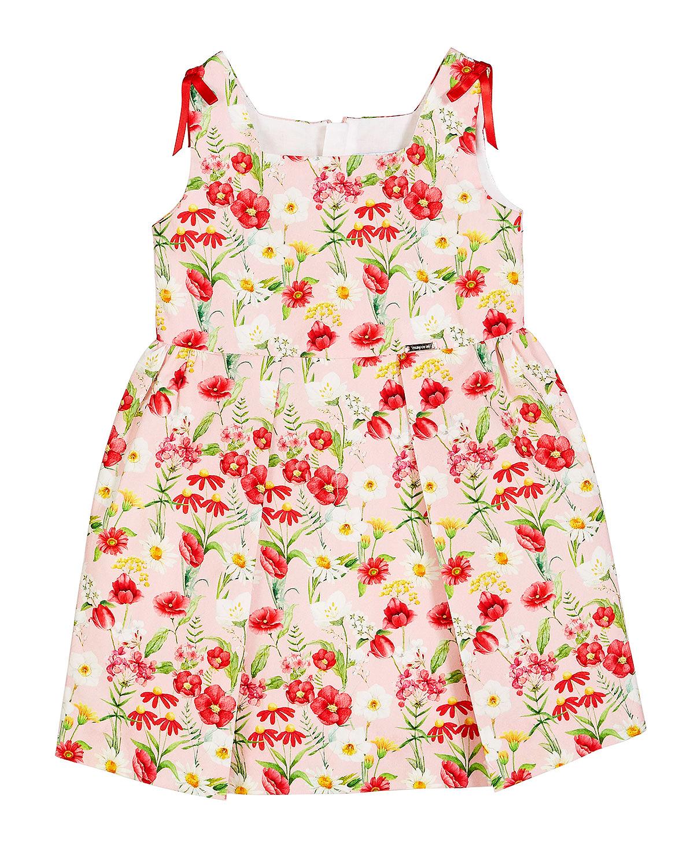 summer flower girl outfit floral patterned dress