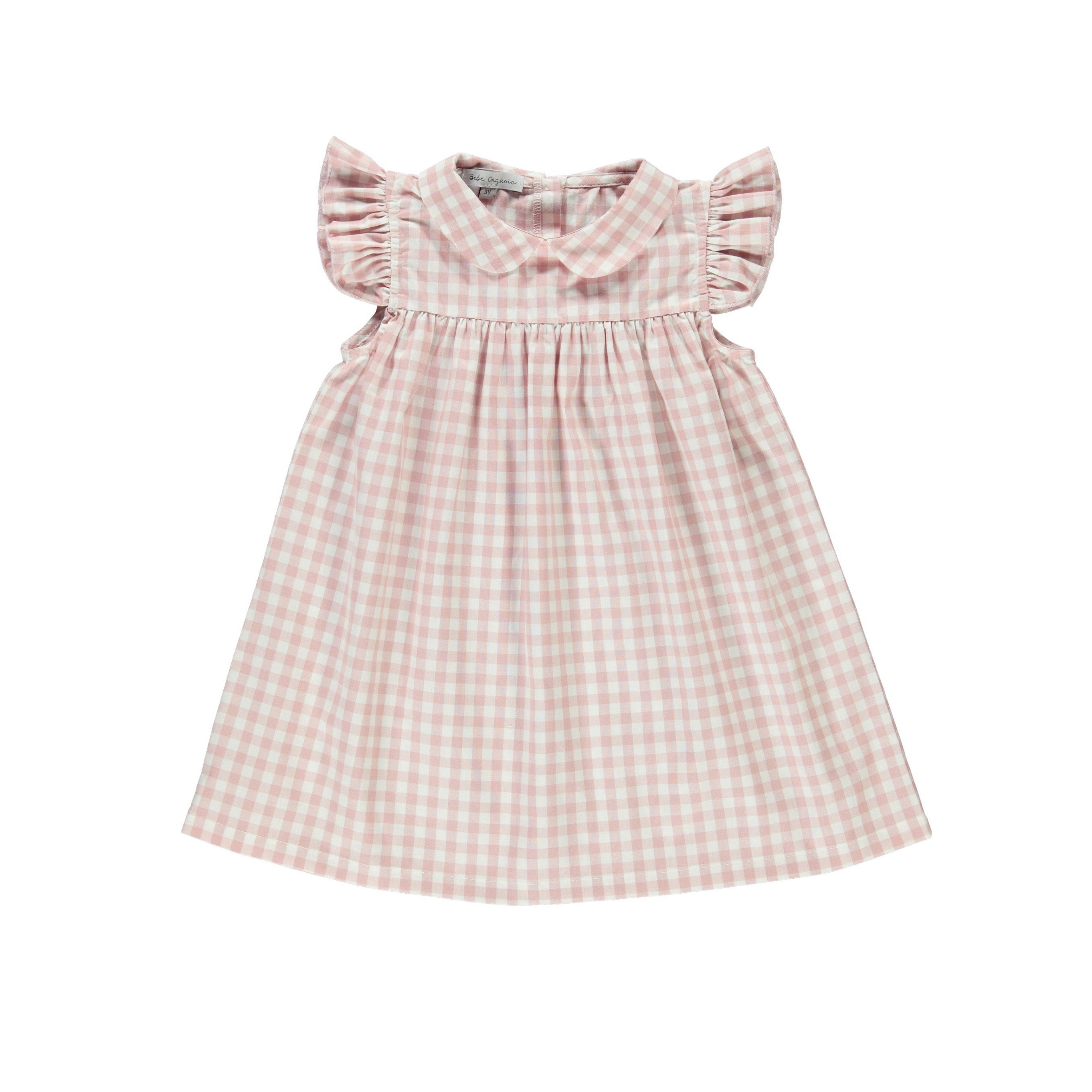 summer flower girl outfit pink checkered dress