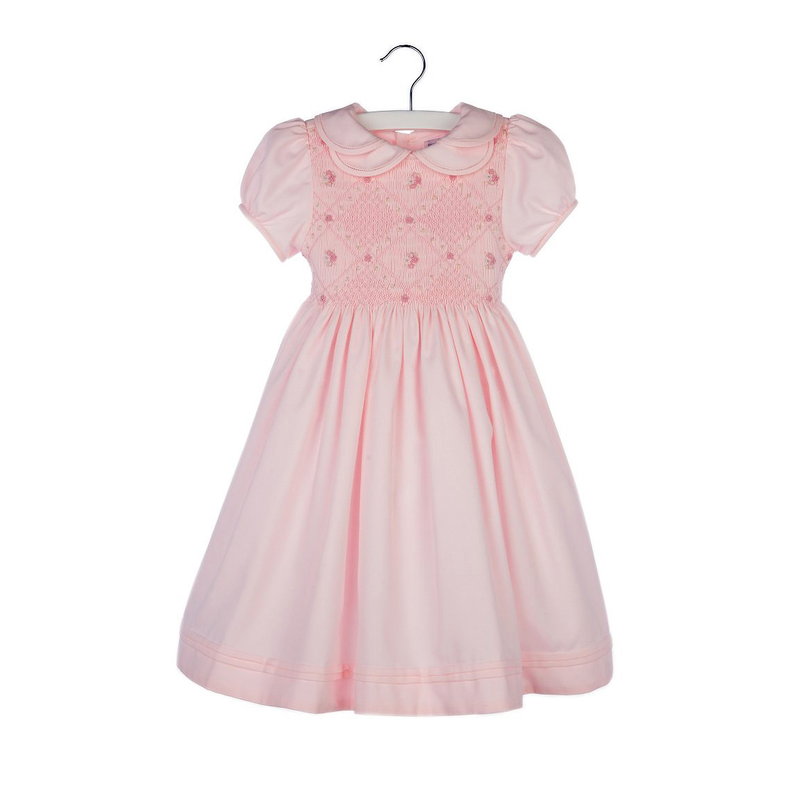 summer flower girl outfit pink collared dress