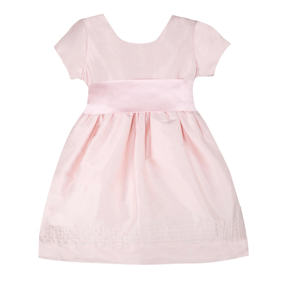 summer flower girl outfit pink dress with ribbon waist