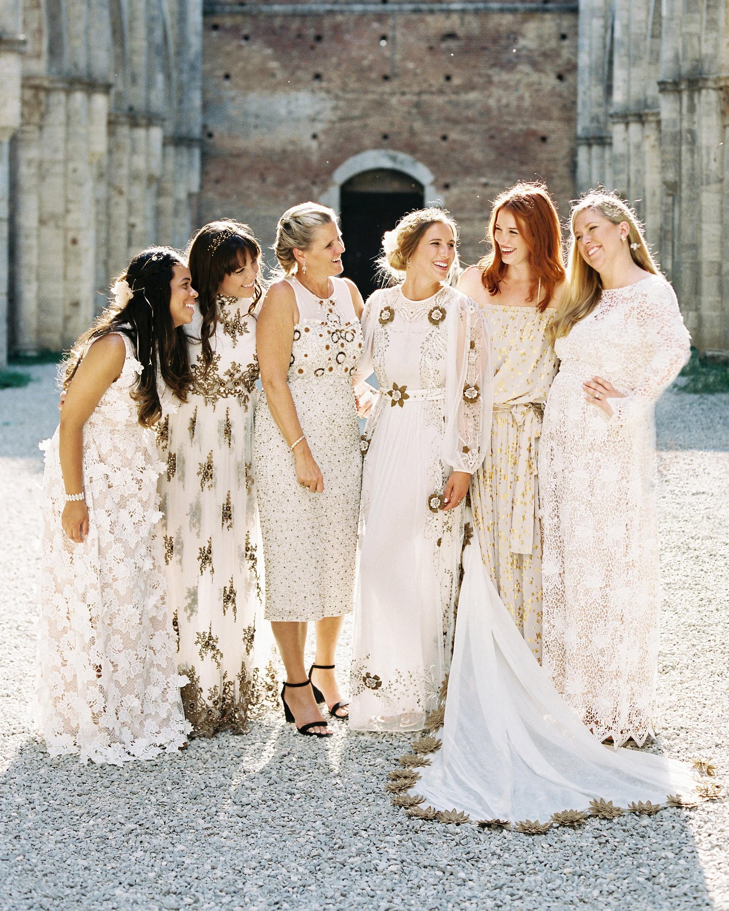 alexis zach wedding italy bridesmaids