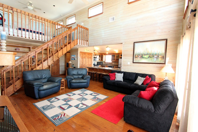 air bnb wedding venue living room of country beach house