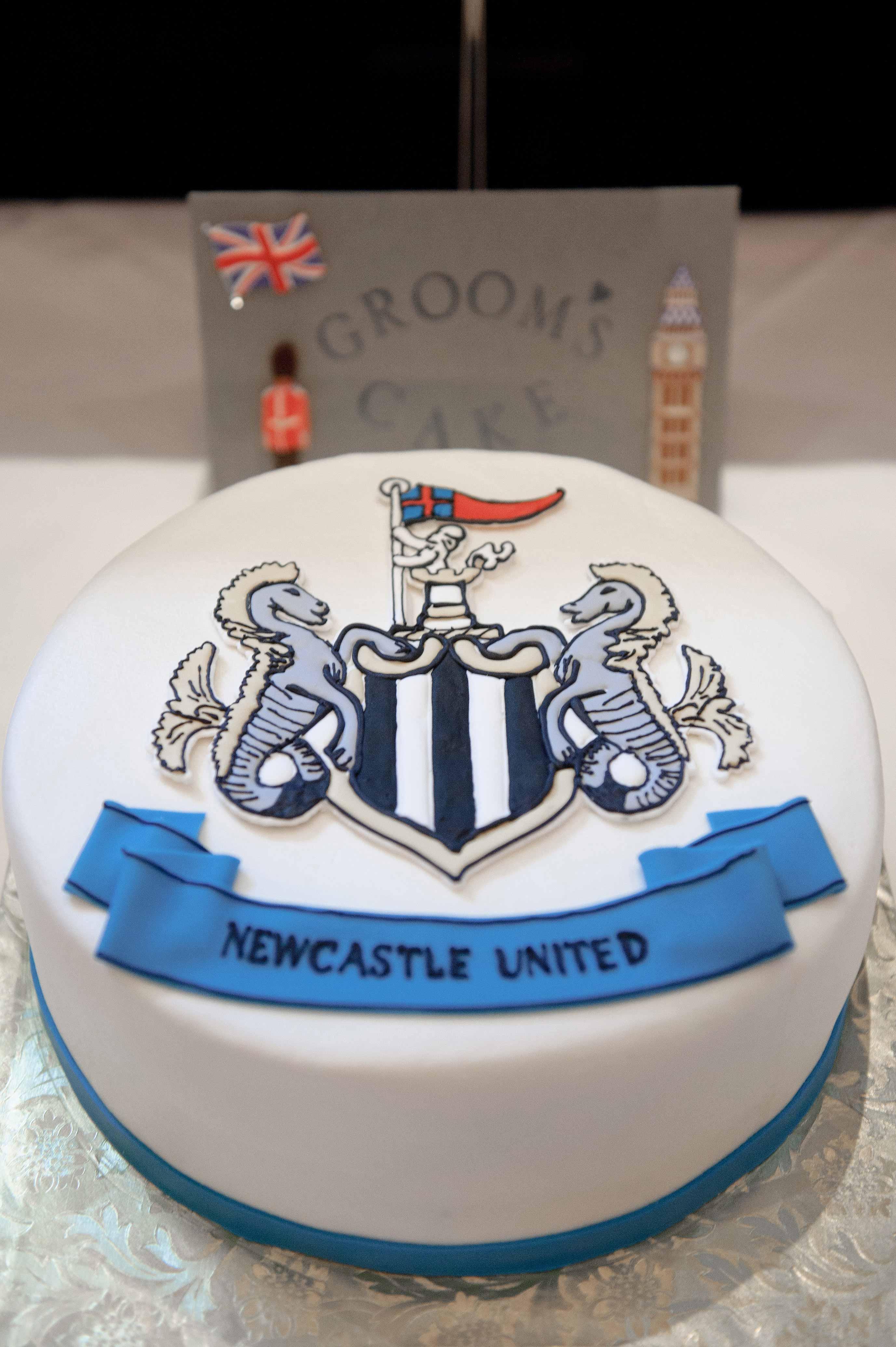 newcastle grooms cake