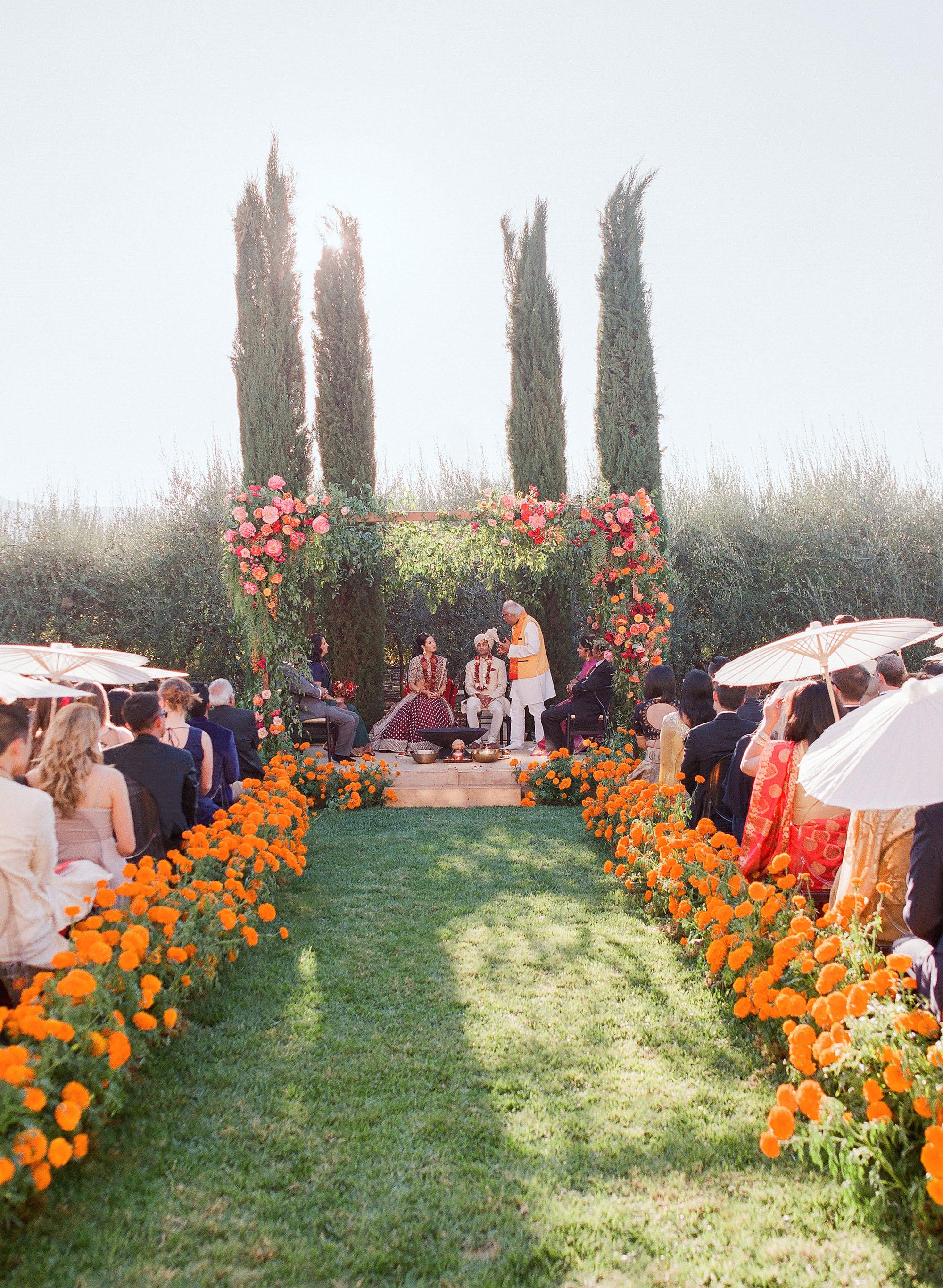 jenna alok wedding wine country california ceremony