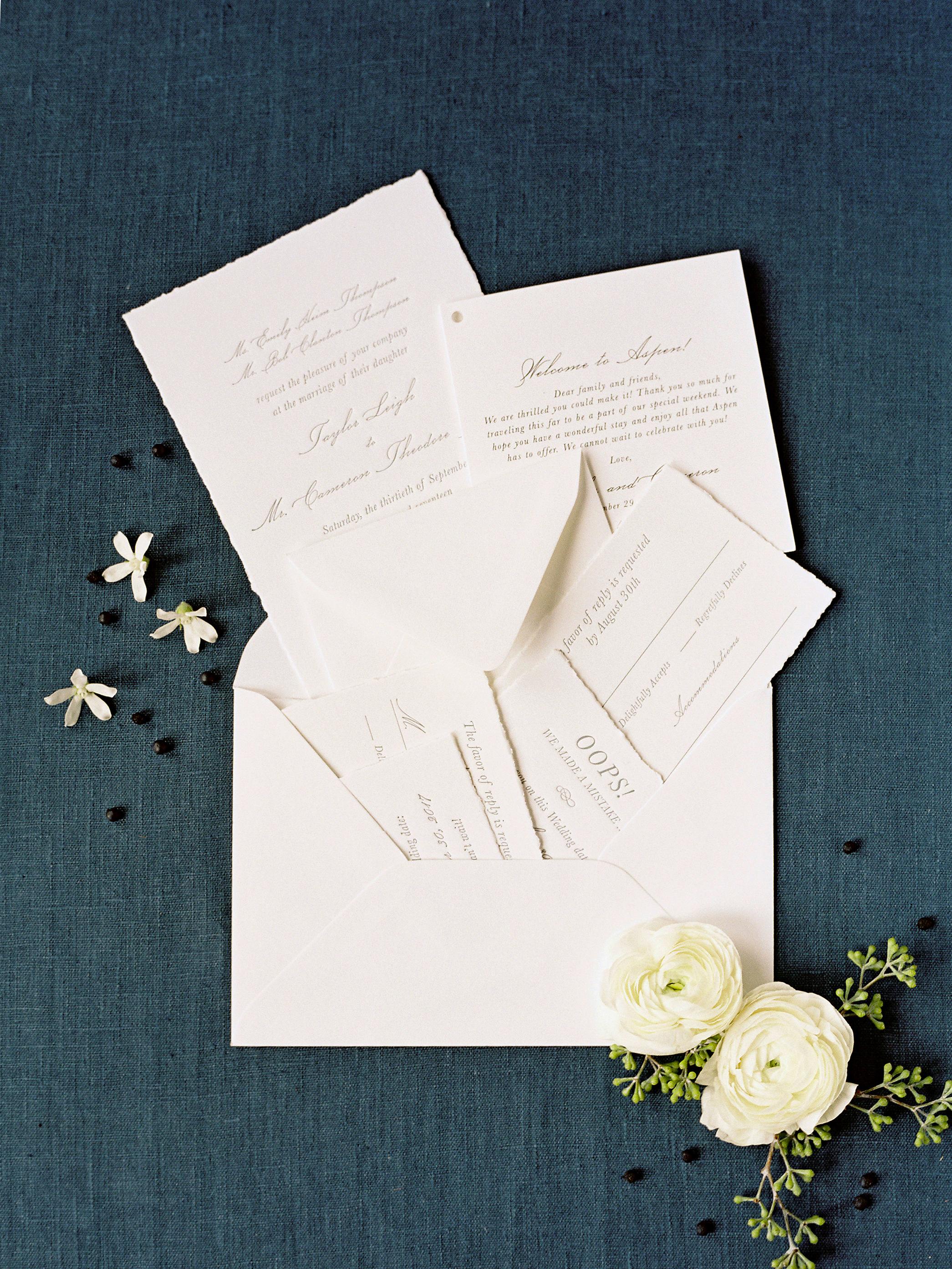 taylor cameron wedding invitation suite