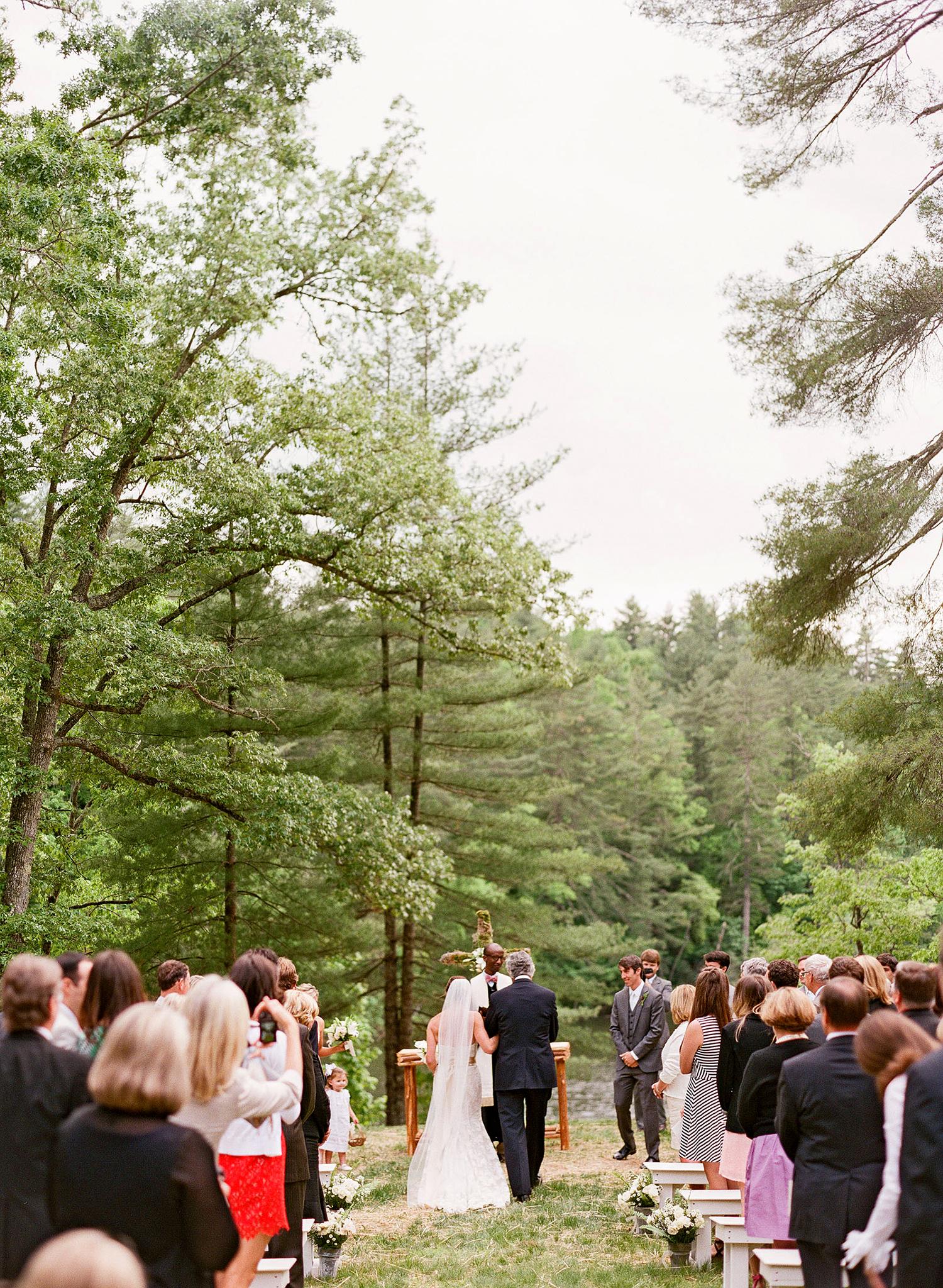 ceremony at camp pinnacle in north carolina