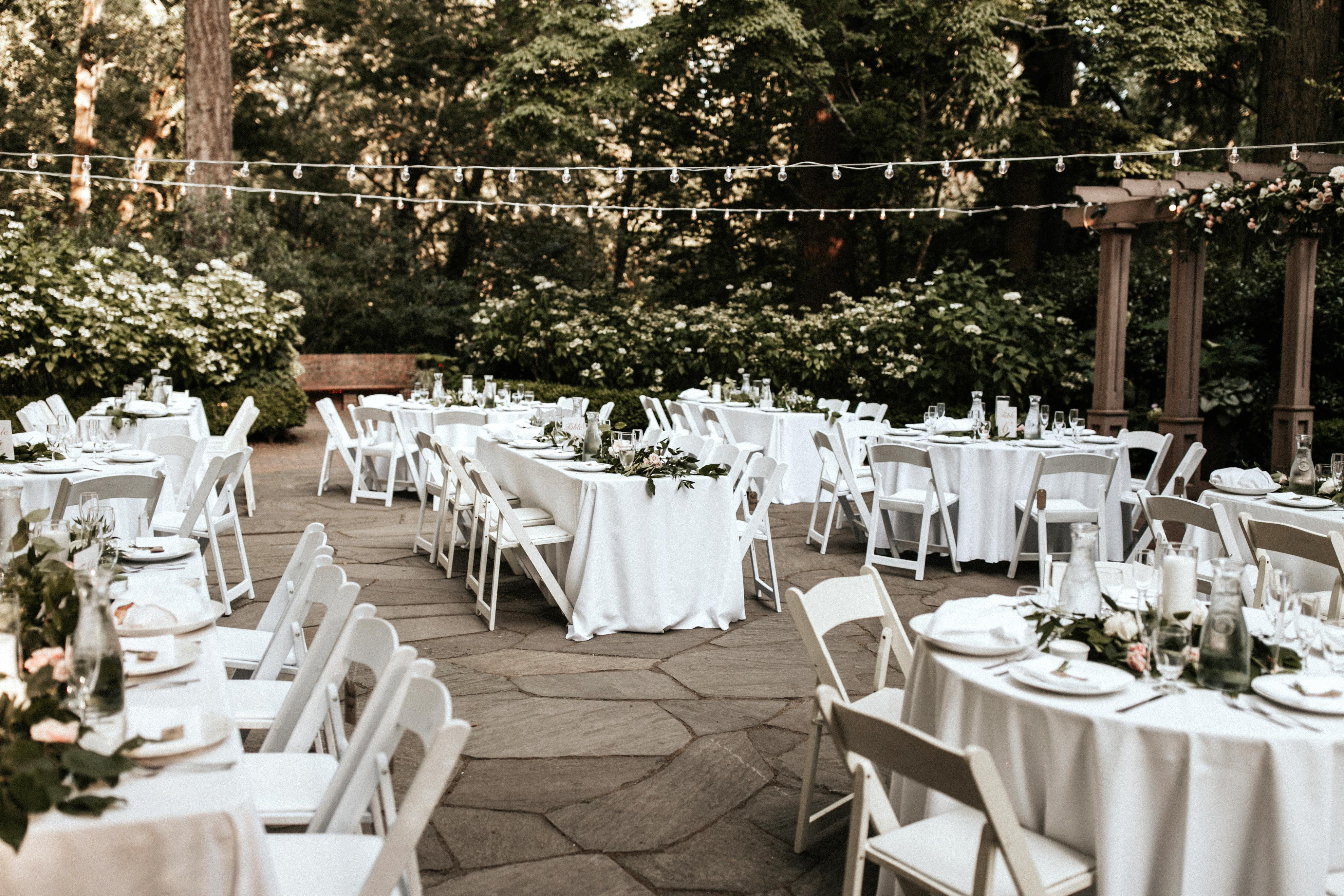table chairs outdoor reception