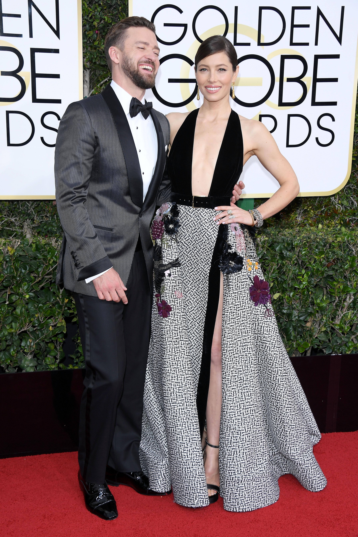 Justin Timberlake and Jessica Biel Golden Globes 2017