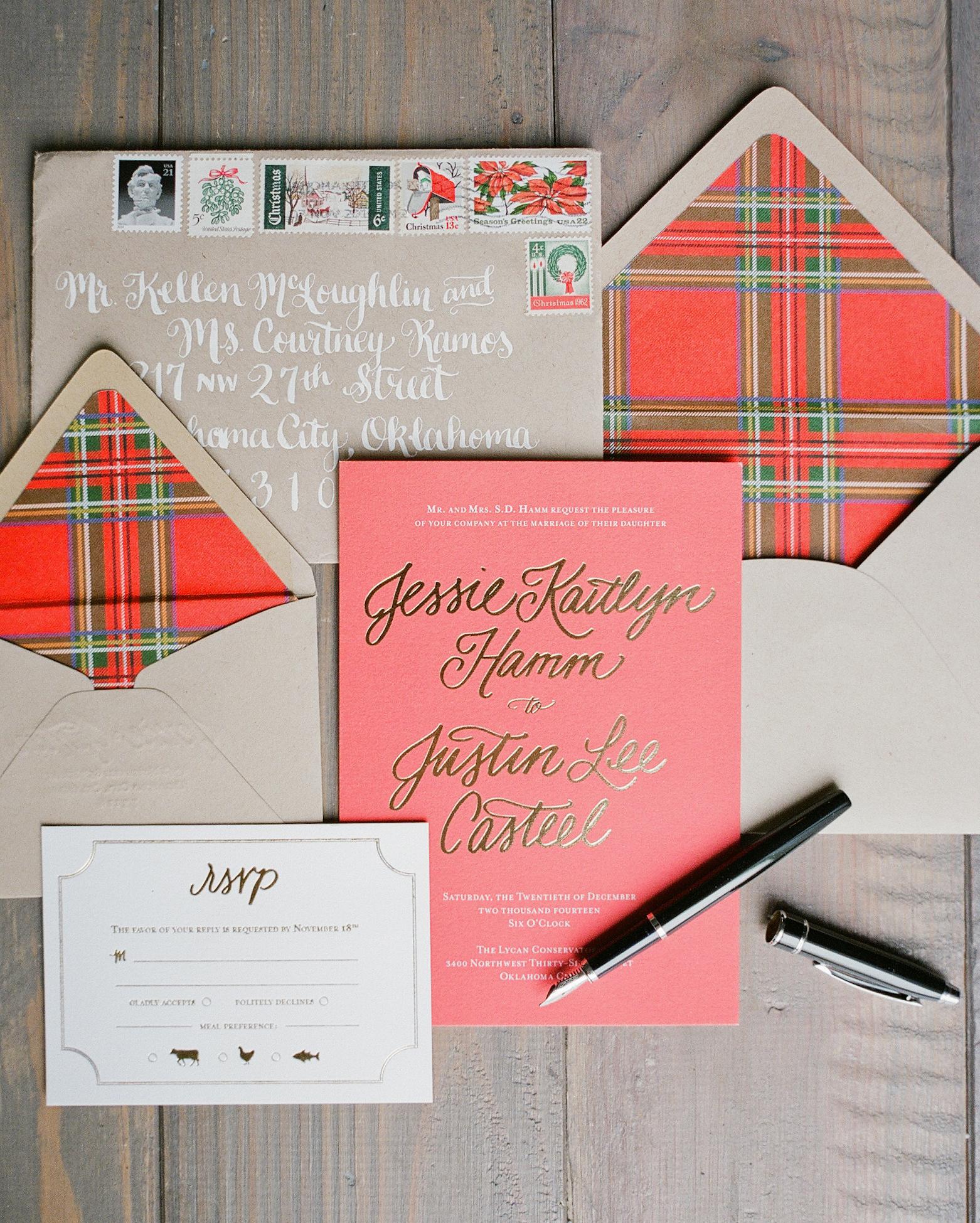 Yellow and Gray Wedding Invitations