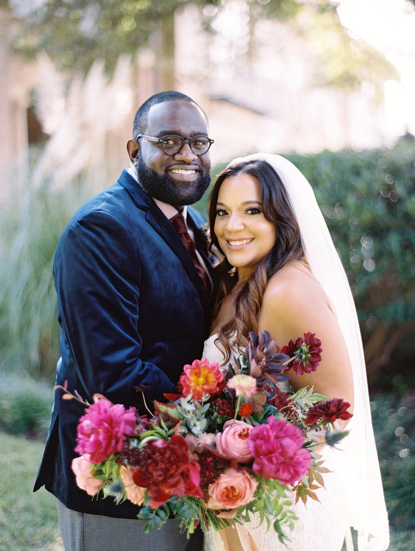 yolanda cedric wedding couple