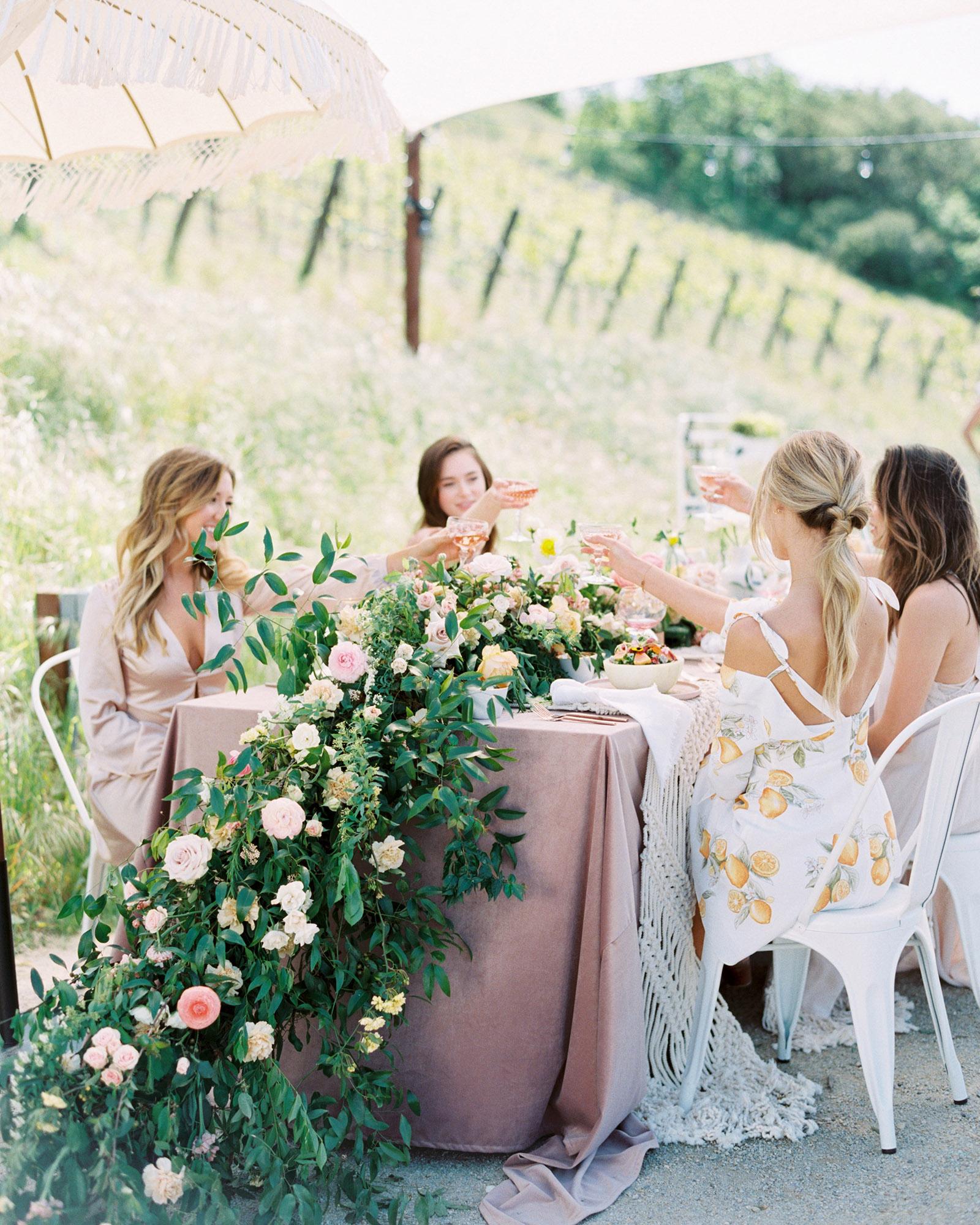 bachelorette party alternative at vineyard